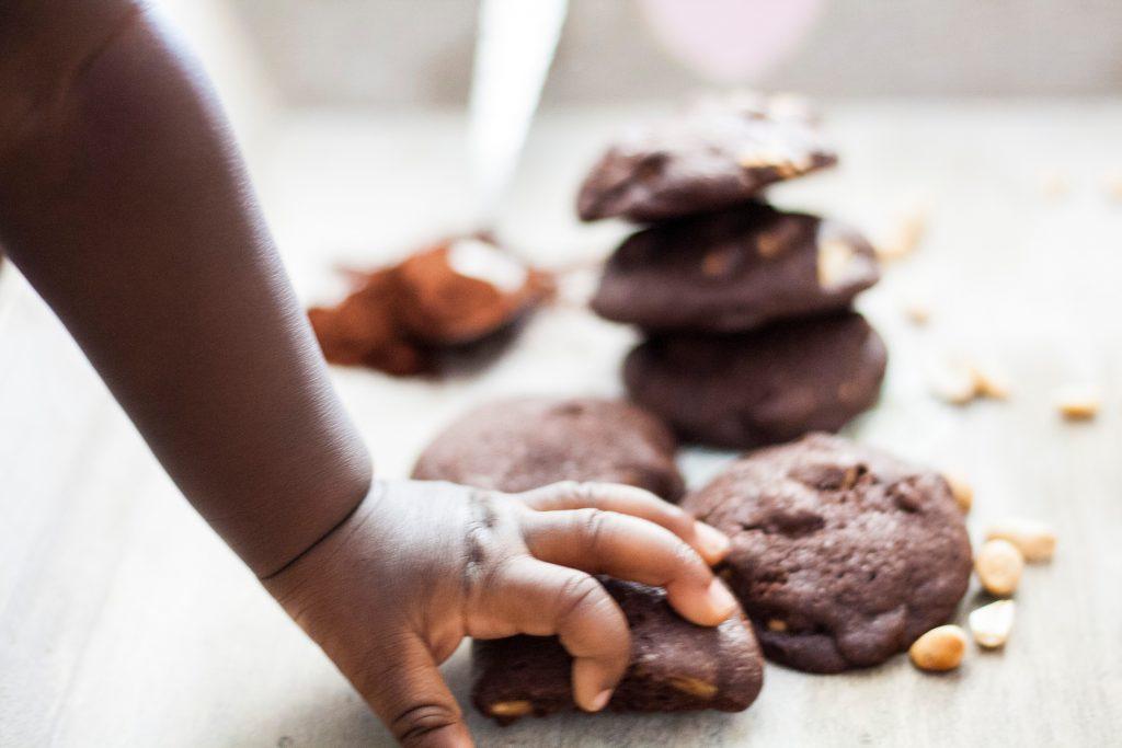 cookies aux cacahuètes et chocolat